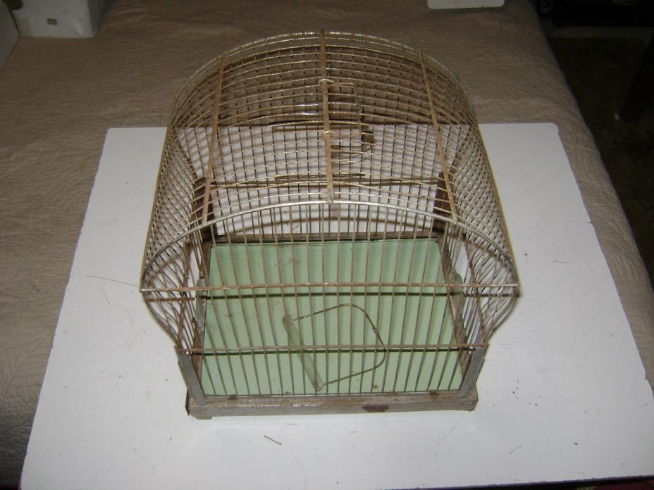VINTAGE ANTIQUE OLD BIRD CAGE GENYKAGE BRITISH ART DECO PROJECT RESTORE SHABBY