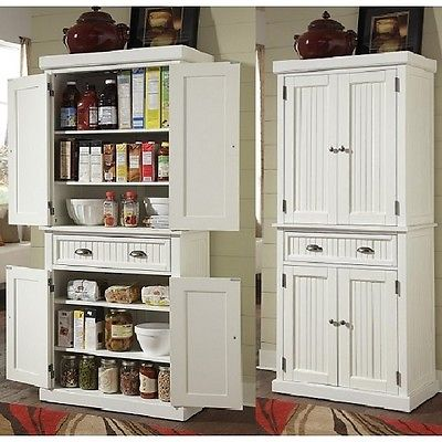 White All Wood Pantry Cabinet For Sale Classifieds