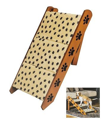 Convertible Pet Steps/Ramp Dog Cat Portable Folding Couch Bed Stairs Wood