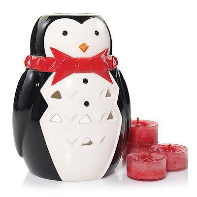 NEW~YANKEE CANDLE~Porter Penguin Luminary Tea Light Christmas Gift Set~Christmas