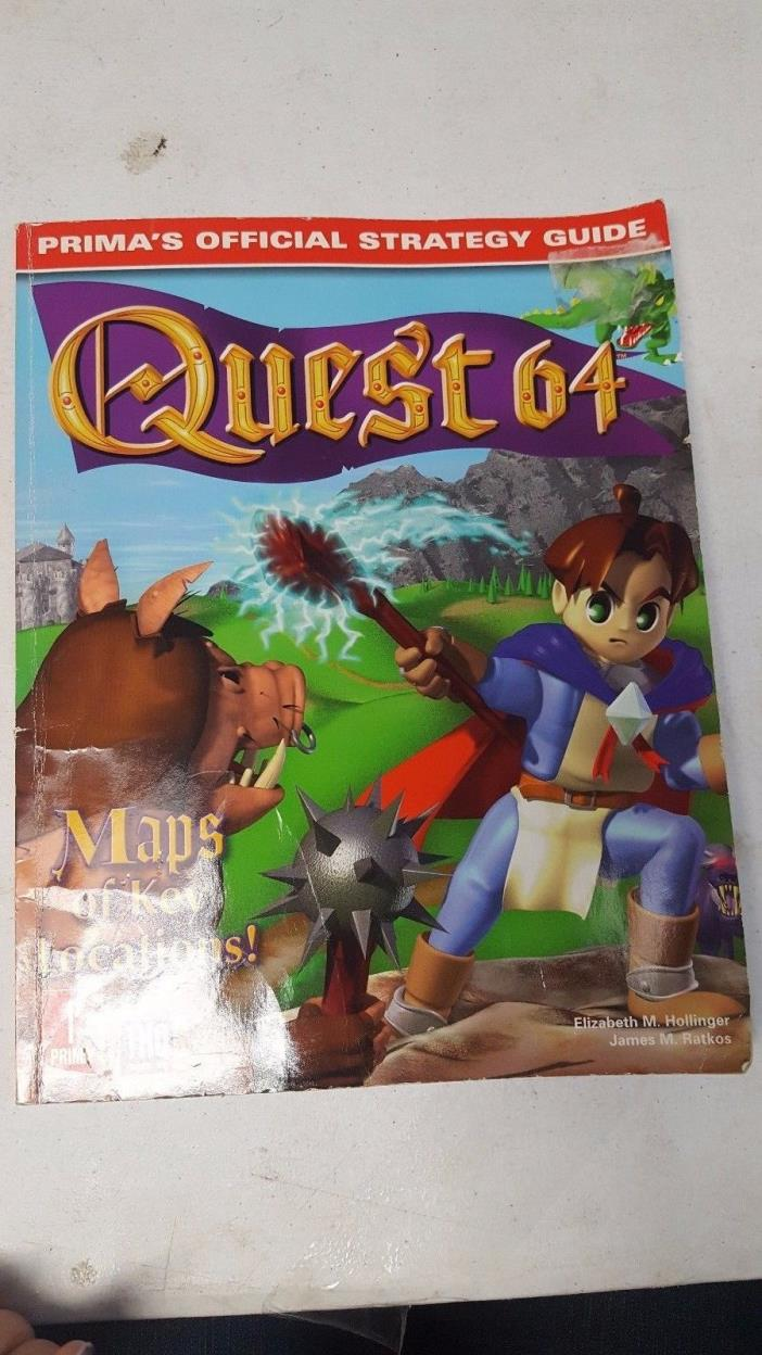 QUEST 64 PRIMA'S OFFICIAL STRADEGY GUIDE PAPER BACK FREE SHIPPING