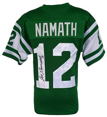 Joe Namath Signed Custom Green Pro Style Football Jersey JSA