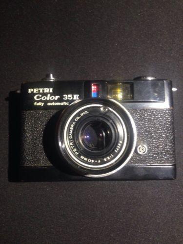 Petri Color 35E (35mm Film Camera) 1:2.8 F=40mm Vintage EXTRA RARE BLACK EDITION