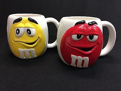 M & M Large Mugs Yellow Red Galerie 2003