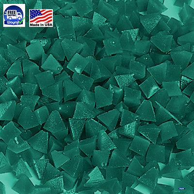 PLASTIC PYRAMID MEDIA GREEN MEDIUM CUT 5 Lb VIBRATORY TUMBLER JEWELRY POLISHING