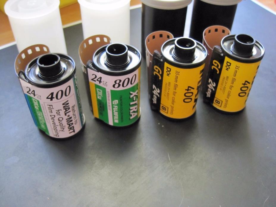 4 35mm Film x2 Kodak Max 400, Fuji Superia X-tra 400, Fujisuperia X-tra 800