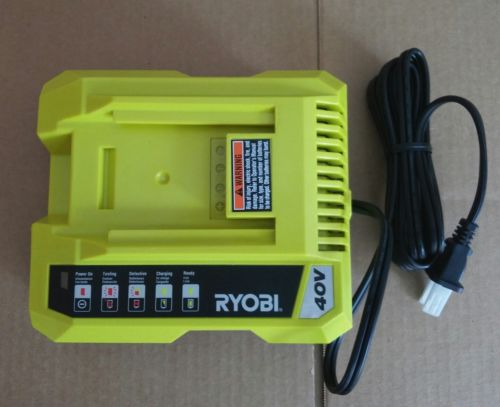 BRAND NEW RYOBI OP401 40V LITHIUM ION LI-ION 40 VOLT BATTERY CHARGER NEW