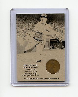 BOB FELLER 1918 Wheat Penny Oddball Baseball Card RARE