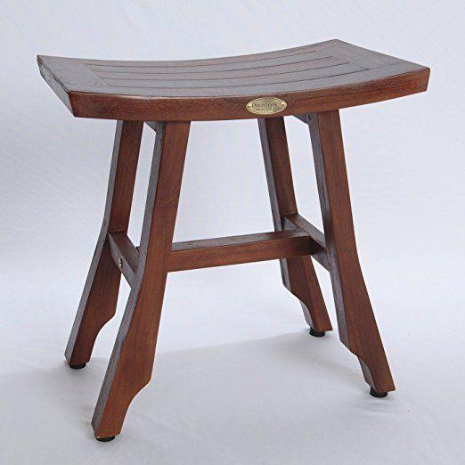 Satori Solid Teak Shower Bench- Asia Style - 13