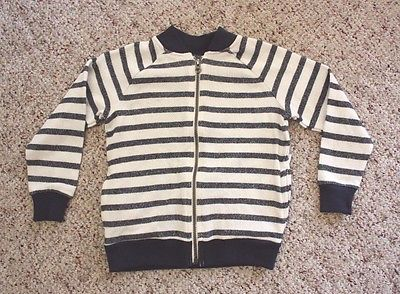NWT Old Navy Boys Blue Striped Crew Neck Zip Up Dressy or Casual Jacket 5T