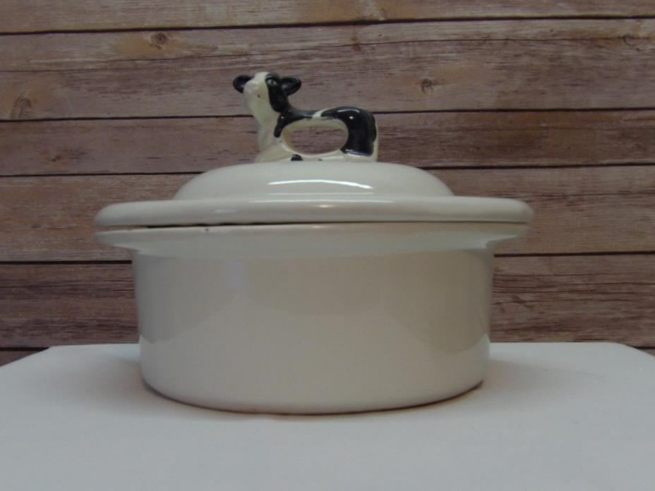 Casserole Dish with lid, blue and white