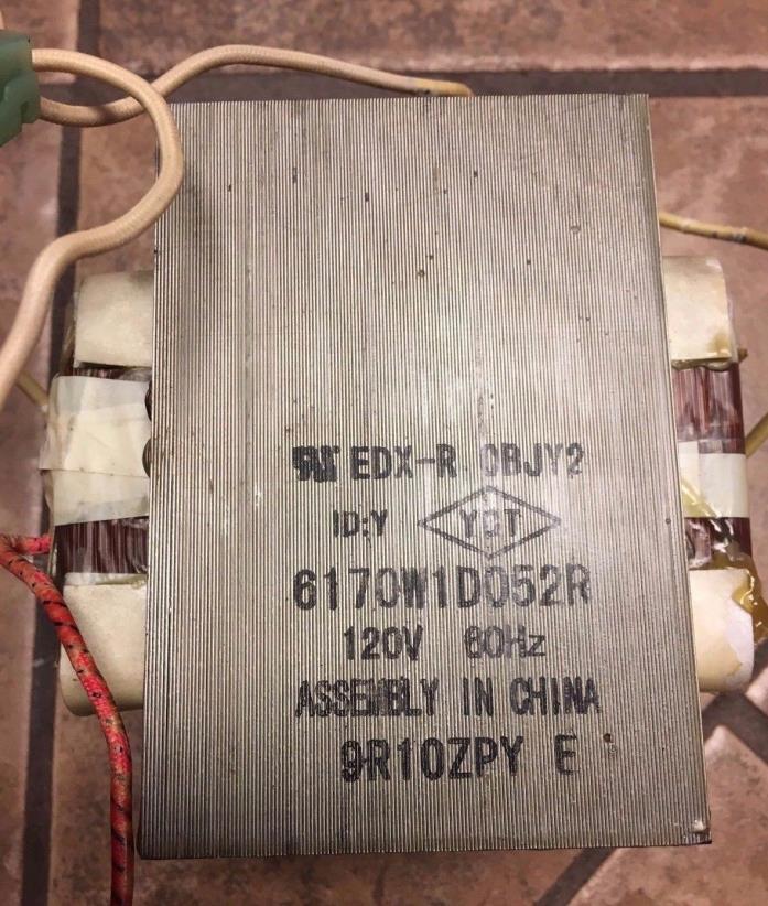 GE Microwave High Voltage Transformer 6170W1D052R (6170W1D096A)
