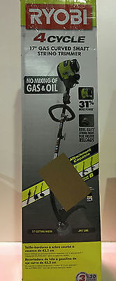 Ryobi 4-Cycle 30cc Attachment Capable Curved Shaft Gas Trimmer New Other