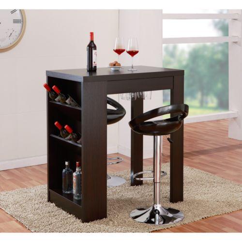 Furniture Of America Miura Modern Cappuccino Multi-storage Bar Table