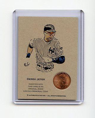 DEREK JETER 2000 Penny Oddball Baseball Card RARE