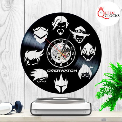 NEW Overwatch Blizzard LP Vinyl Record Wall Clock collector cool gift decor USA
