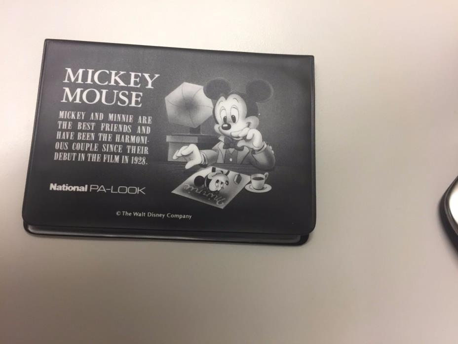 NEW authentic Disney Mickey Mouse & Minnie wallet card case