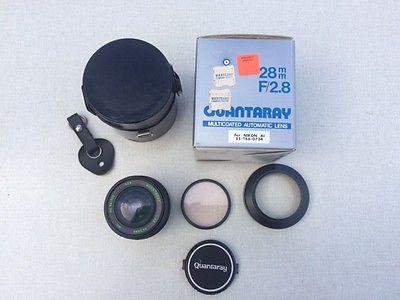 Quantaray 28mm f/2.8 lens and accessories - for Nikon AI