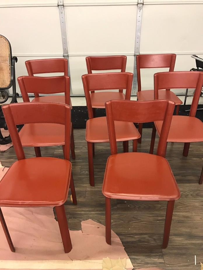 12 Frag Leather Dining Chairs - Made in Italy