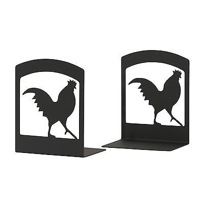 Village Wrought Iron Rooster Bookends