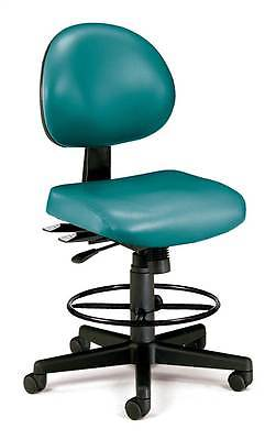 Adjustable Vinyl Extended Use Computer Task Chair w Drafting Kit [ID 376917]
