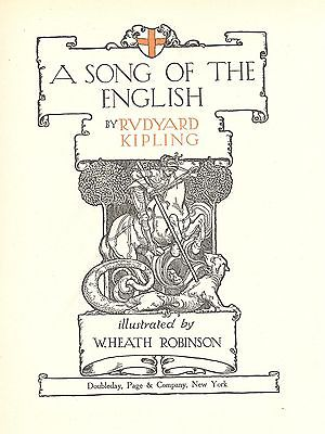 Illust book  (30  color tipped)-A Song of the English-W.H. Robinson 1909-1st ed.