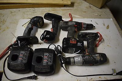Craftsman 19.2v cordless Drill and2 flash lights and 2 working chargers