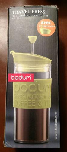 Bodum Insulated Plastic Travel French Press Coffee & Tea Mug 0.45-Liter 16 OZ.