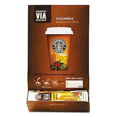 VIA Ready Brew Coffee, 3/25oz, Colombia, 50/Box