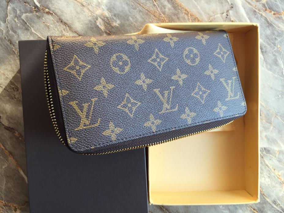 Louis Vuitton Womens Brown Monogram Zippy Wallet
