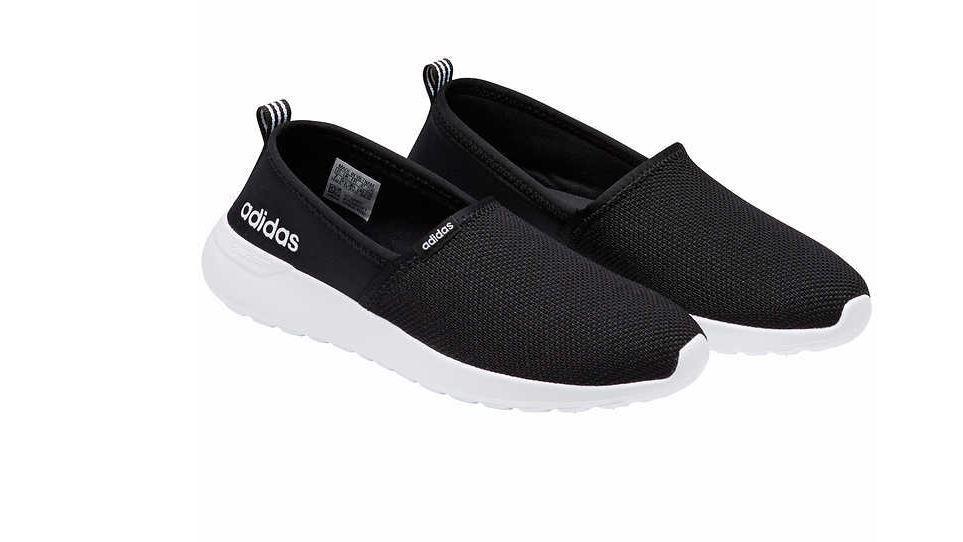 Adidas Women's Black Neo Lite Racer Slip On Shoes Cloudfoam (New). Size 7
