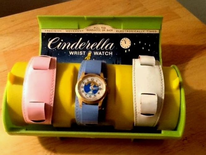DISNEY Vintage Bradley Time Cinderella Wrist Watch Set