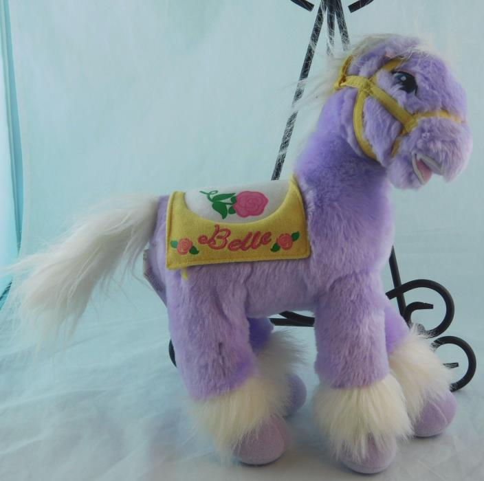 Disney My First Princess Bell's Pony ROSE PETAL Purple/White Plush Horse 2002