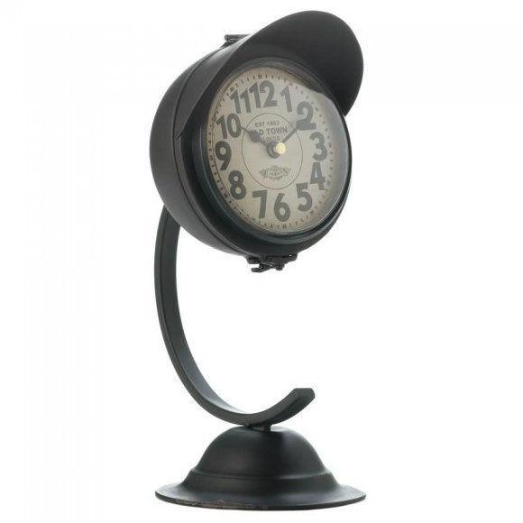 Metal Retro Desk Clock - Black or White