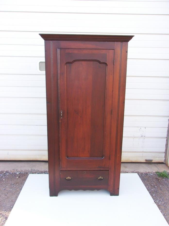 ANTIQUE SINGLE DOOR WARDROBE OLD FINISH-SELLING OUT MAKE OFFER