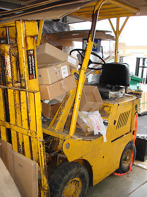 PROPANE GAS FORKLIFT BY BAKER, FOR PARTS OR REPAIR, BAD STARTER AND BRAKES