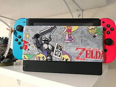 Nintendo Switch Dock Sock Cover Protector legend of Zelda theme