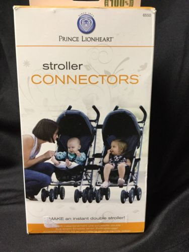 Stroller Connectors , Converts 2 Strollers into 1 Double, Easy Snap