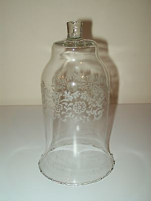 HOMCO Vintage Floral Etched Clear Glass Votive Cup Candle Holder