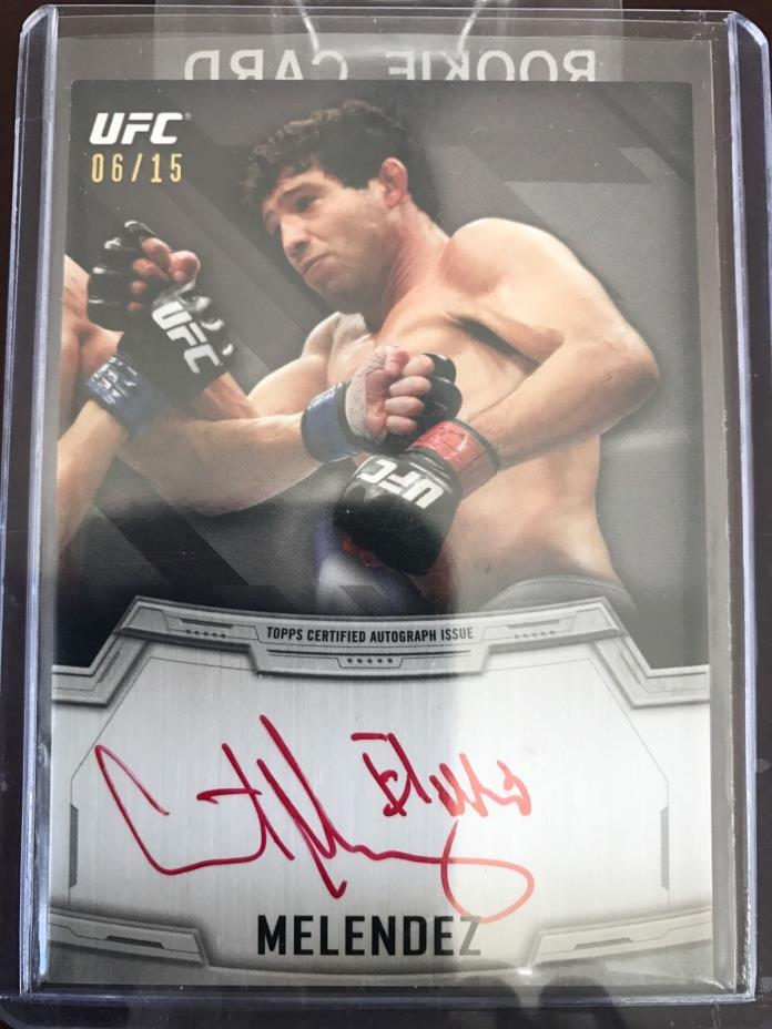 ufc topps 2014 knockout red ink auto 6/15 Gilbert Melendez