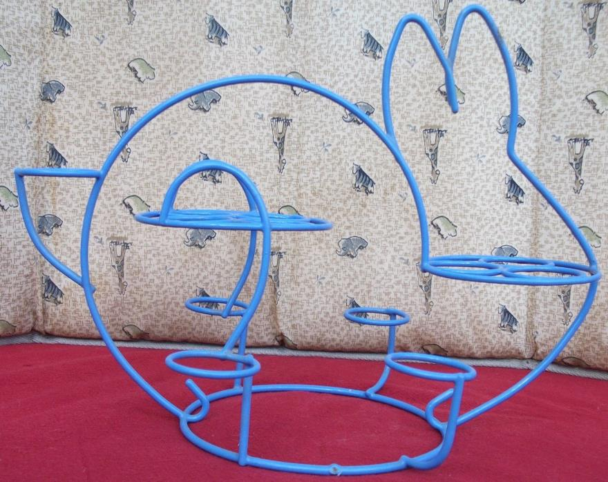 Easter Bunny Hard Boiled Egg Holder Stand-Violet Powder-Coated Metal Rack