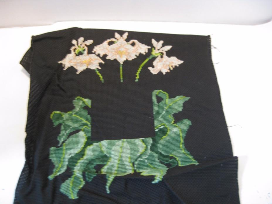 Finished Completed Cross Stitch Piece Lillies