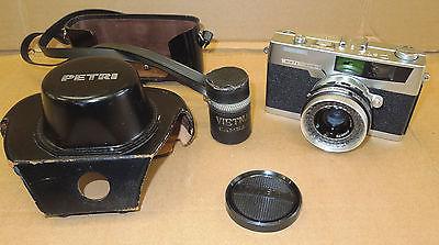 Petri 7S 45mm f2.8 Vintage 35mm Rangefinder Camera Japan Case Vietnam Cam Ranh
