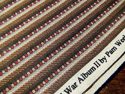 1.5 yd Civil War Album II 1863 Newcastle reproduction stripe cotton quilt fabric