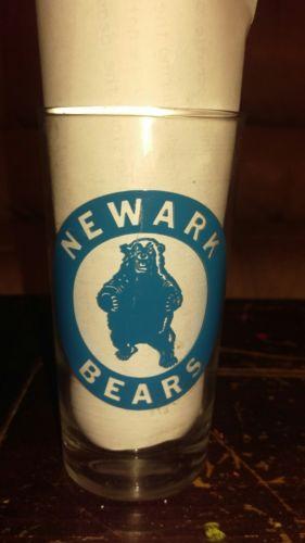 RARE 1950S CONTINENTAL FOOTBALL LEAGUE NEWARK BEARS TUMBLER GLASS EX.COND