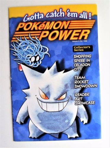 Rare Nintendo Pokemon Power Magazine Vol 3 Collectors Series Oct 1998