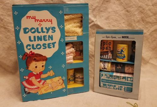 Vintage My Merry Dolly's Linen Closet and Cleaning Closet