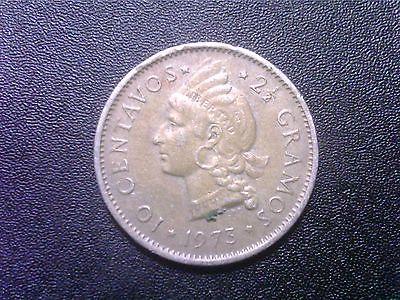 DOMINICAN  REPUBLIC    10  CENTAVOS   1973  AW19