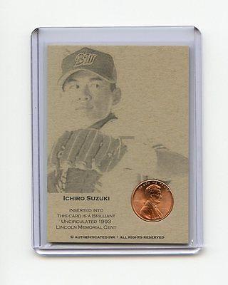 ICHIRO SUZUKI 1993 Penny Oddball Baseball Card RARE