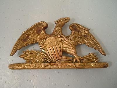 VINTAGE 1952 SOLID BRASS SPREAD EAGLE TRIVET